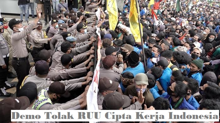 Demo Tolak RUU Cipta Kerja Indonesia